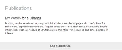 LinkedIn Publications